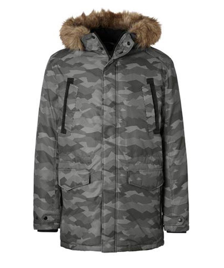 Куртка муж Jack & Jones, цвет: серый камуфляж. 12124254_Black. Размер L (48/50)12124254_Black