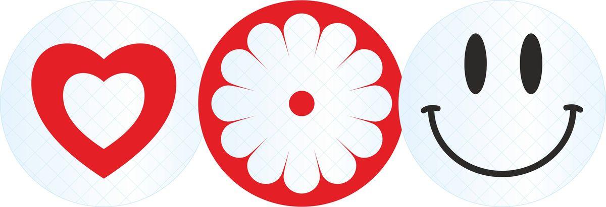 Комплект светоотражателей Фолиант Улыбка, цвет: белый, красный, черный, 3 штСВК-8/1Тематический комплект Фолиант Улыбка состоит из 3-х кругов диаметром 5,5 см. Светоотражатели изготовлены из светоотражающей пленки призматического типа. Пленка соответствует ГОСТ Р 52290-2004, обладает высокой светоотражающей способностью. Ношение светоотражателей снижает риск наезда на пешехода в темное время суток в 6-8 раз. (С 1 июля 2015 года вступило в силу изменение в Правилах дорожного движения, в соответствии с которым при переходе дороги и движении по обочинам или краю проезжей части в темное время суток или в условиях недостаточной видимости пешеходам рекомендуется, а вне населенных пунктов пешеходы обязаны обеспечить свою видимость для водителей транспортных средств светоотражающими элементами.).