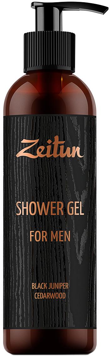 Зейтун Крем-гель для душа  Черный можжевельник и кедр  для мужчин, 250 мл - Косметика по уходу за кожей