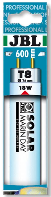 Лампа люминесцентная JBL Solar Marin Day, дневного белого цвета, для морских аквариумов, Т8, 18 Вт, 15000 КJBL6160100JBL SOLAR MARIN DAY - Люминесцентная Т8 лампа дневного белого цвета для морских аквариумов, 18 ватт, 15000 кельвинов