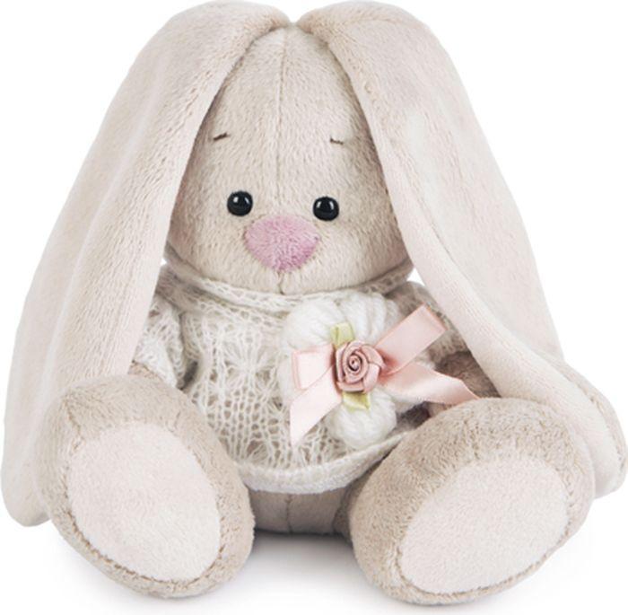 Budibasa Мягкая игрушка Зайка Ми в вязаном свитере 15 см