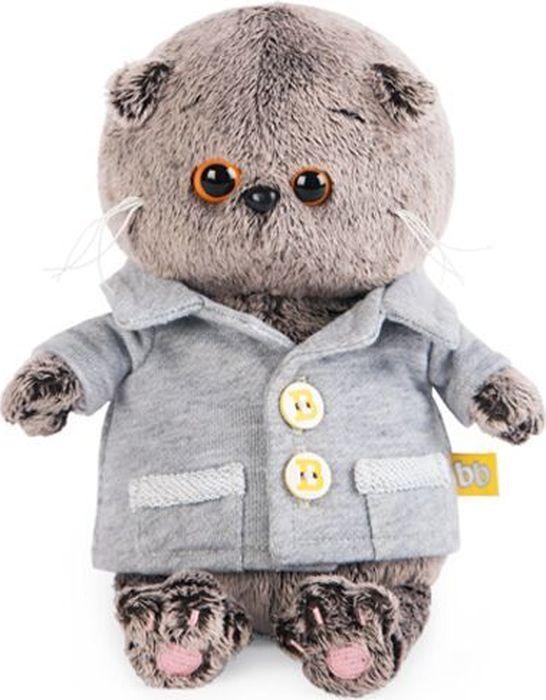 Budibasa Мягкая игрушка Кот Басик Baby в сером пиджачке 20 см - Мягкие игрушки