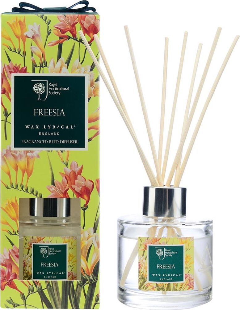Ароматический диффузор Wax Lyrical Цветущая фрезияRH5412Цветочный аромат, сочетающий в себе ноты фрезии, гардении и орхидеи