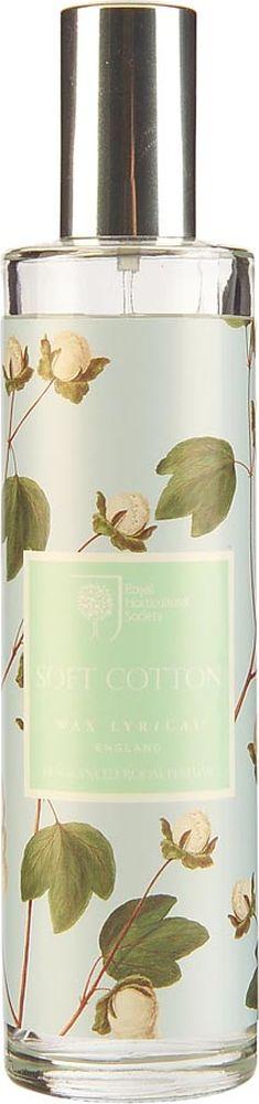 Ароматизатор интерьерный Wax Lyrical Цветущий хлопок, 100 мл224398Деликатный цветочный аромат фиалки, лилии и цветов хлопка на основе мускуса.