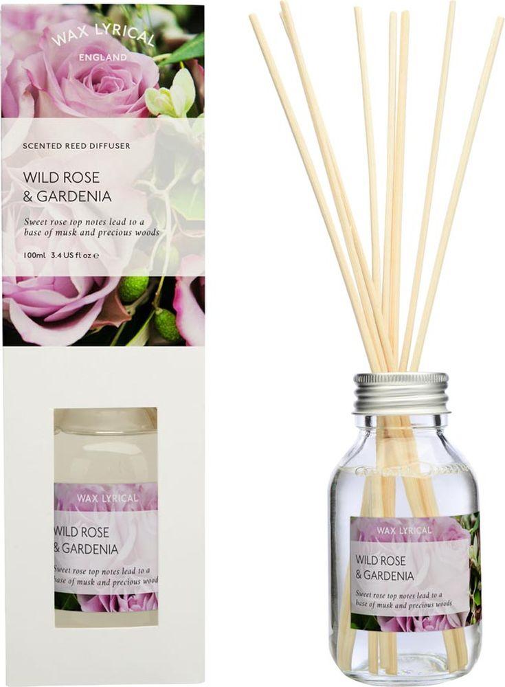 Ароматический диффузор Wax Lyrical Дикая роза и гардения, 100 млWLP517Диффузор ароматический Wax Lyrical Дикая роза и гардения - это простое, изящное и долговременное решение, как наполнить дом или офис приятным запахом. Верхние ноты сладкой розы с аккордами мускуса и драгоценных пород дерева приятно удивят вас ненавязчивым ароматом. У диффузора узкое горлышко для более экономичного использования. В среднем, такой флакончик будет создавать прекрасный аромат в вашем доме на протяжении 6недель (зависит от метража помещения).Диффузор - это не просто освежитель воздуха, а элемент декора, который окутает вас своим приятным и нежным ароматом. Отлично подойдет в качестве подарка. Способ применения: поместите палочки в емкость с ароматической жидкостью. Степень интенсивности запаха может регулироваться объемом ароматической жидкости и количеством палочек. Товар сертифицирован.