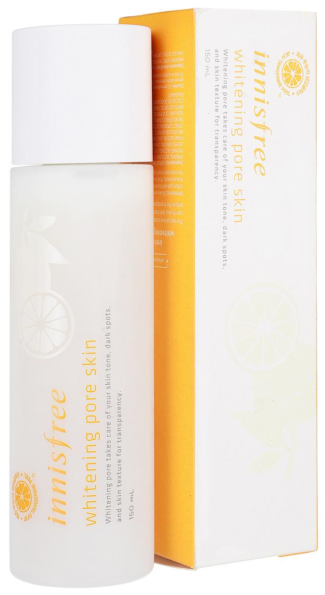 Innisfree Осветляющий тоник, 150 мл556175Двухфазный осветляющий тонер-лосьон с устойчивой формой витамина С для яркой, ровной и чистой кожи. Whitening Pore Skin - это первая ступень ежедневного ухода за кожей. Средство обладает очень удобной двухфазной структурой (тонер + лосьон) и выполняет сразу две функции - тонер глубоко увлажняет и освежает кожу, выравнивает ее тон и готовит к нанесению дальнейших средств по уходу за кожей, усиливая их действие, а лосьон смягчает и делает кожу гладкой и бархатистой. Средство очень нежное и быстро впитывается в кожу.