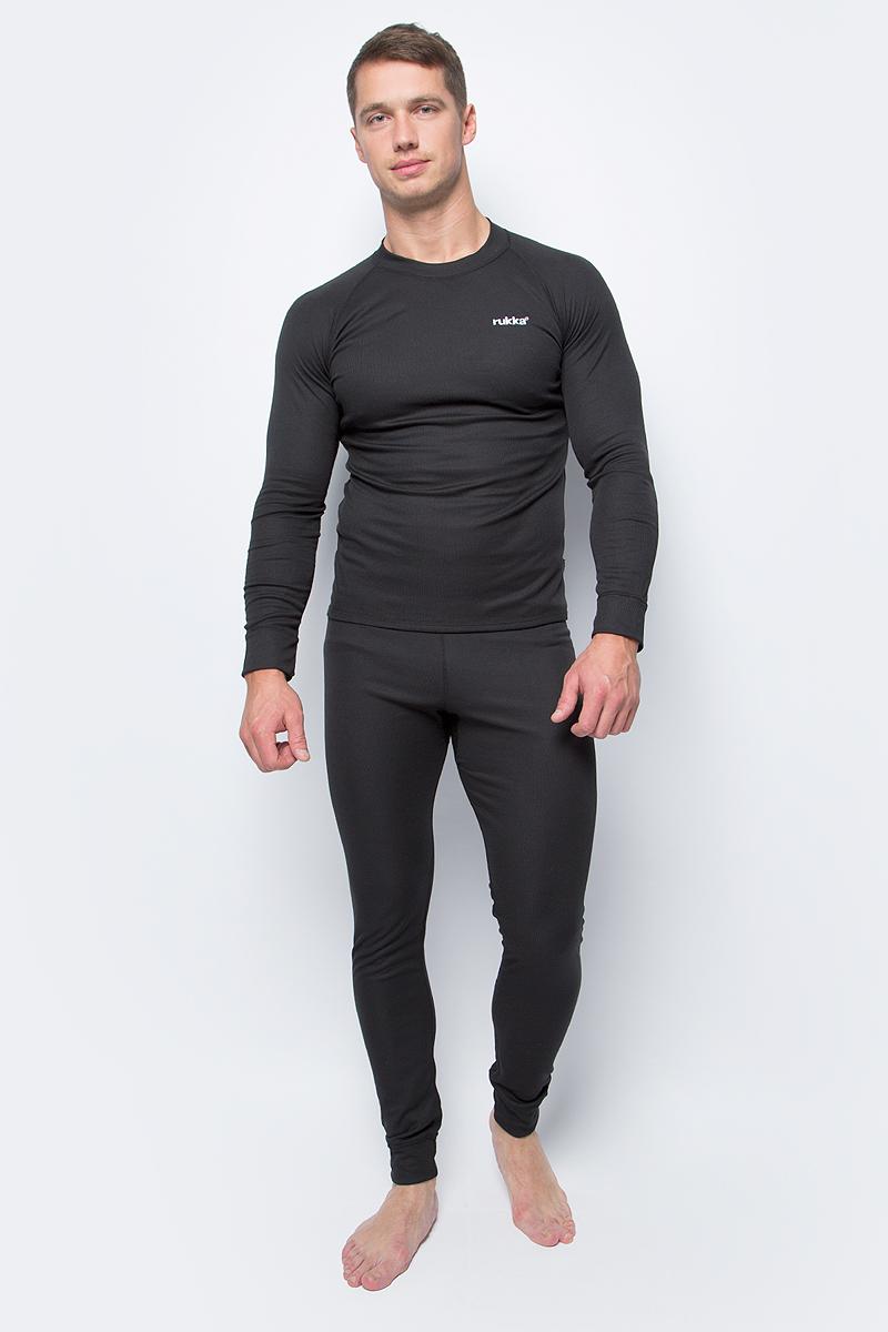 Комплект (футболка и кальсоны) муж Rukka, цвет: черный. 870512219RV_990. Размер S (48)870512219RV_990