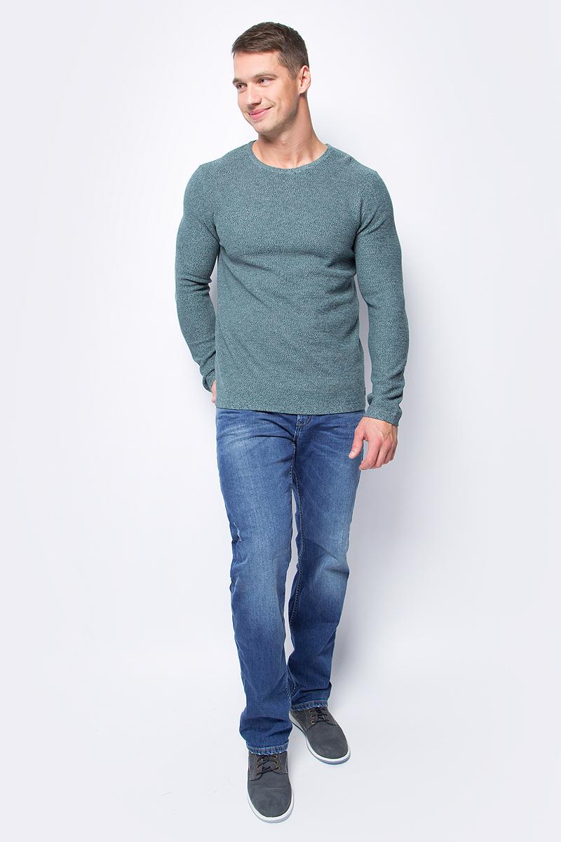 Джинсы мужские Tom Tailor, цвет: синий. 6255018.00.12_1303. Размер 30-32 (46-32)6255018.00.12_1303Стильные мужские джинсы Tom Tailor, выполненные из высококачественного материала, станут отличным дополнением к вашему гардеробу. Модель стандартной посадки на талии застегиваются на пуговицу и имеют ширинку на застежке-молнии. На поясе имеются шлевки для ремня. Модель представляет собой классическую пятикарманку: два втачных и один маленький накладной кармашек спереди и два накладных кармана сзади.