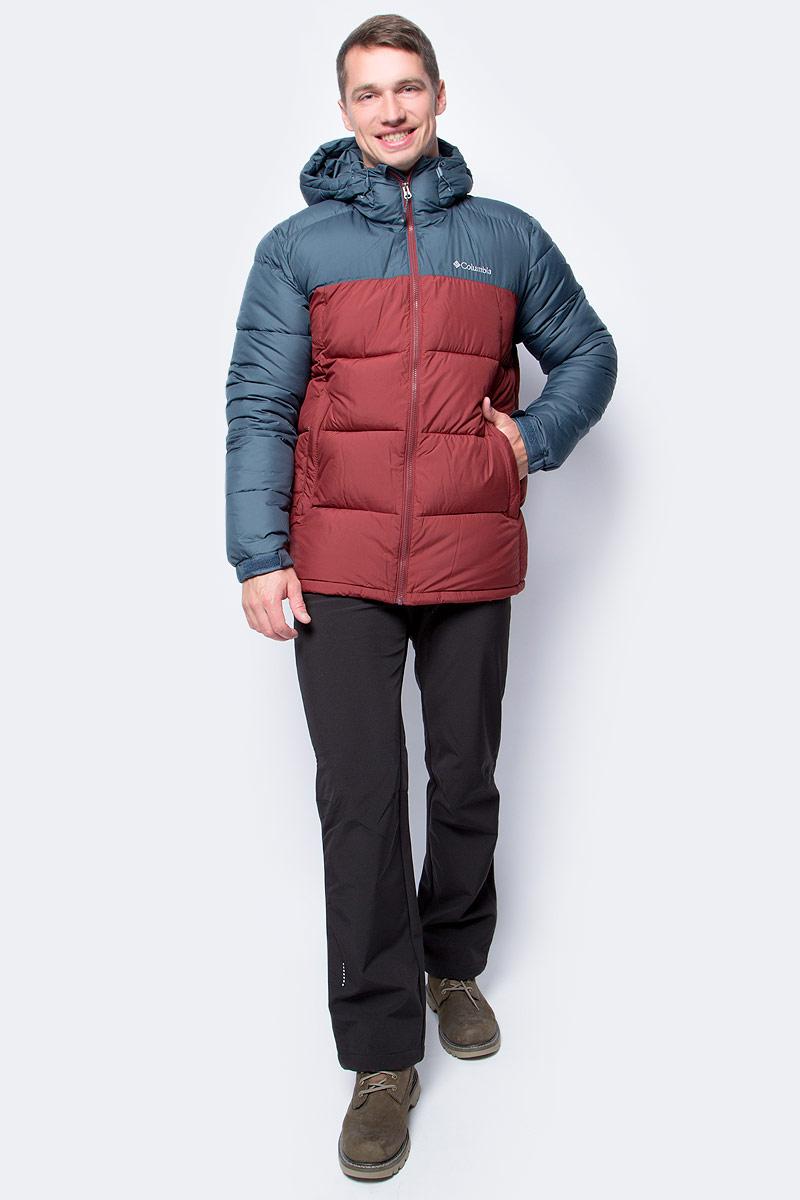 Куртка мужская Columbia Pike Lake Hooded Jacket M, цвет: синий, кирпичный. 1738032-435. Размер XXL (56/58)