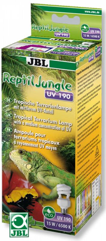 Лампа JBL  ReptilJungle Daylight , энергосберегающая, с полным спектром, для тропических террариумов, 24 Вт, 4000 К - Аксессуары для аквариумов