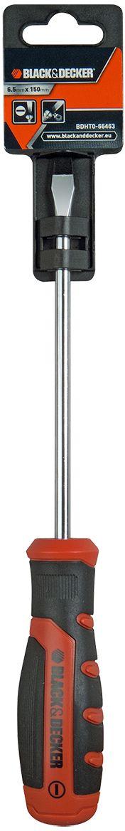 Отвертка Black & Decker, под прямой шлиц, 6.5 x 150 мм. BDHT0-66463BDHT0-66463Отвертка