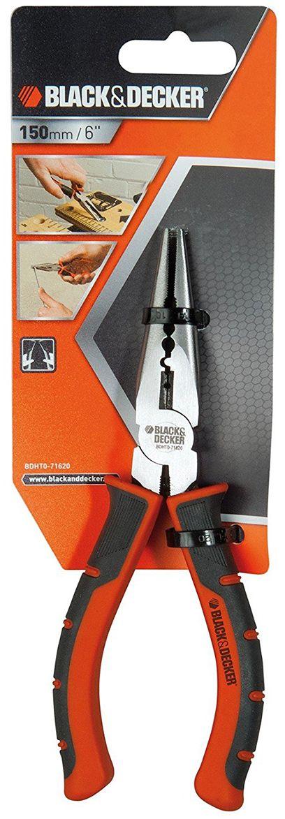 Плоскогубцы Black & Decker, с удлиненными губками. BDHT0-71620BDHT0-71620Плоскогубцы с удлиненными губками