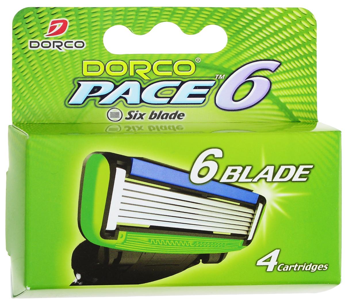"""Dorco Kассеты для бритья """"Pace 6"""", 4 шт."""