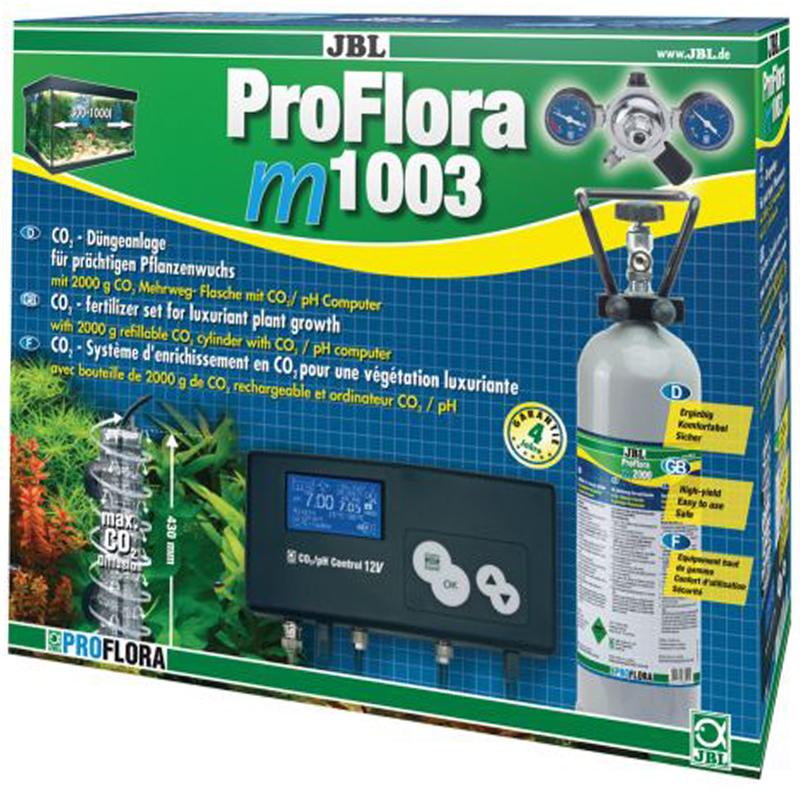 Установка для подачи СО2 в аквариум JBL ProFlora m1003, с пополняемым баллоном, для аквариумов от 300 до 1000 л jbl proflora bio co2 bio160 2 jbl6444600