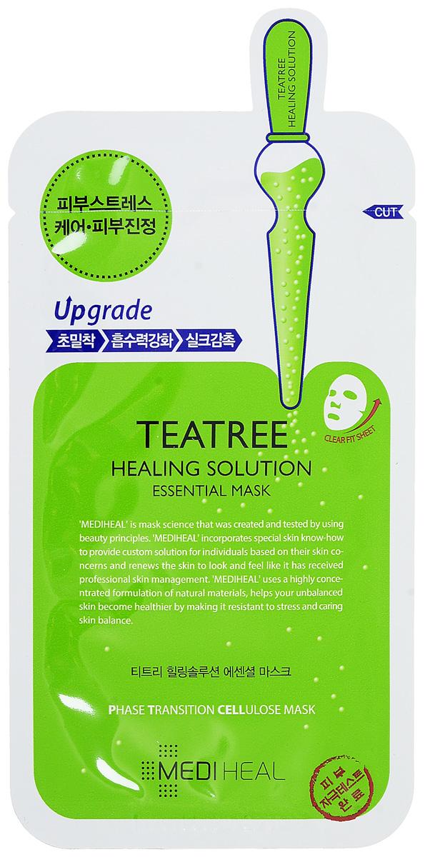 Mediheal Маска для лица с эктрактом чайного дерева, 25 мл550154Масло чайного дерева славится благодаря противовоспалительному, увлажняющему, заживляющему действию. Mediheal предлагает маску Teatree Healing Solution Essential Mask, содержащую экстракт целебного растения и предназначенную для проблемной, склонной к воспалению и раздражению кожи лица. Основной компонент заживляющей маски быстро снимает признаки дискомфорта и предупреждает возникновение новых очагов воспаления.Благодаря центелле азиатской быстрее идет регенерация клеток, быстро заживают повреждения кожи, выравнивается ее тон и рельеф. Белки пшеницы и сои укрепляют структуру тканей, вместе с вытяжкой из сосновой хвои матируют кожу, освежают и поддерживают ее здоровый вид.