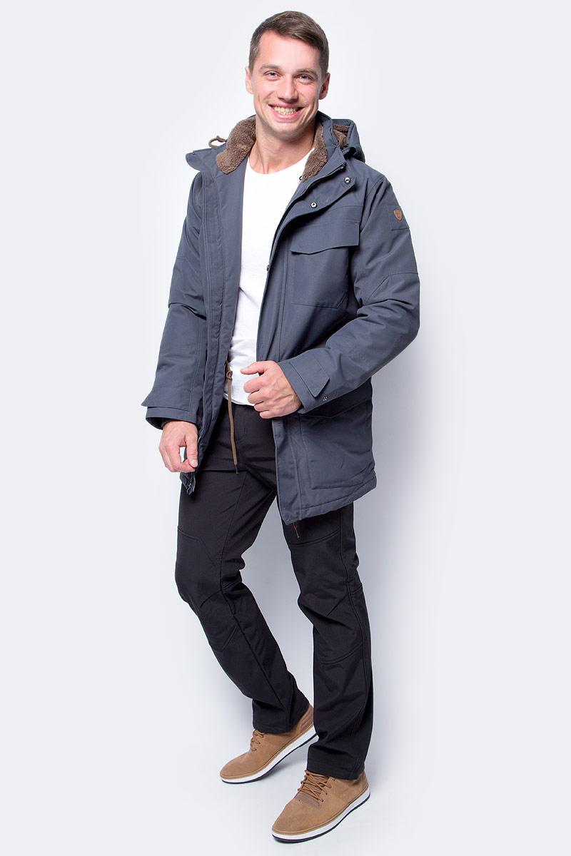 Куртка мужская Luhta, цвет: темно-серый. 838529348LV_280. Размер 54838529348LV_280Стильная мужская куртка Luhta изготовлена из полиэстера. Куртка с капюшоном застегивается на застежку-молнию и дополнительно на клапан с липучками. Капюшон регулируется с помощью шнурка. Спереди расположены три накладных кармана с клапанами и на груди - прорезной карман на застежке-молнии. Манжеты рукавов дополнены трикотажными напульсниками. Объем по линии талии можно регулировать за счет шнурка-кулиски со стопперами.