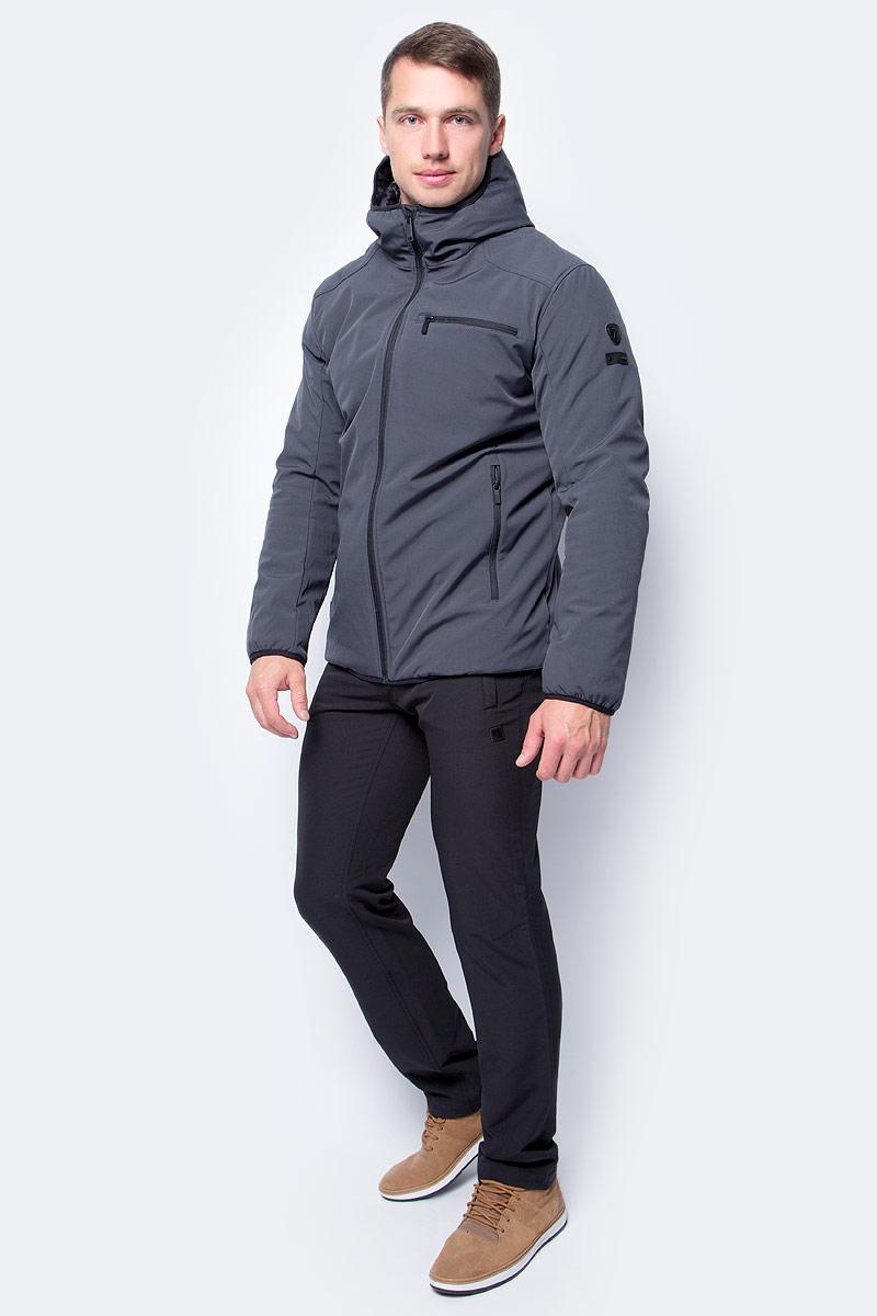 Куртка мужская Luhta, цвет: серый. 838508382LV_280. Размер 54838508382LV_280Мужская куртка Luhta выполнена из высококачественного материала. Модель с капюшоном застегивается на молнию. Спереди расположено множество карманов на молниях.