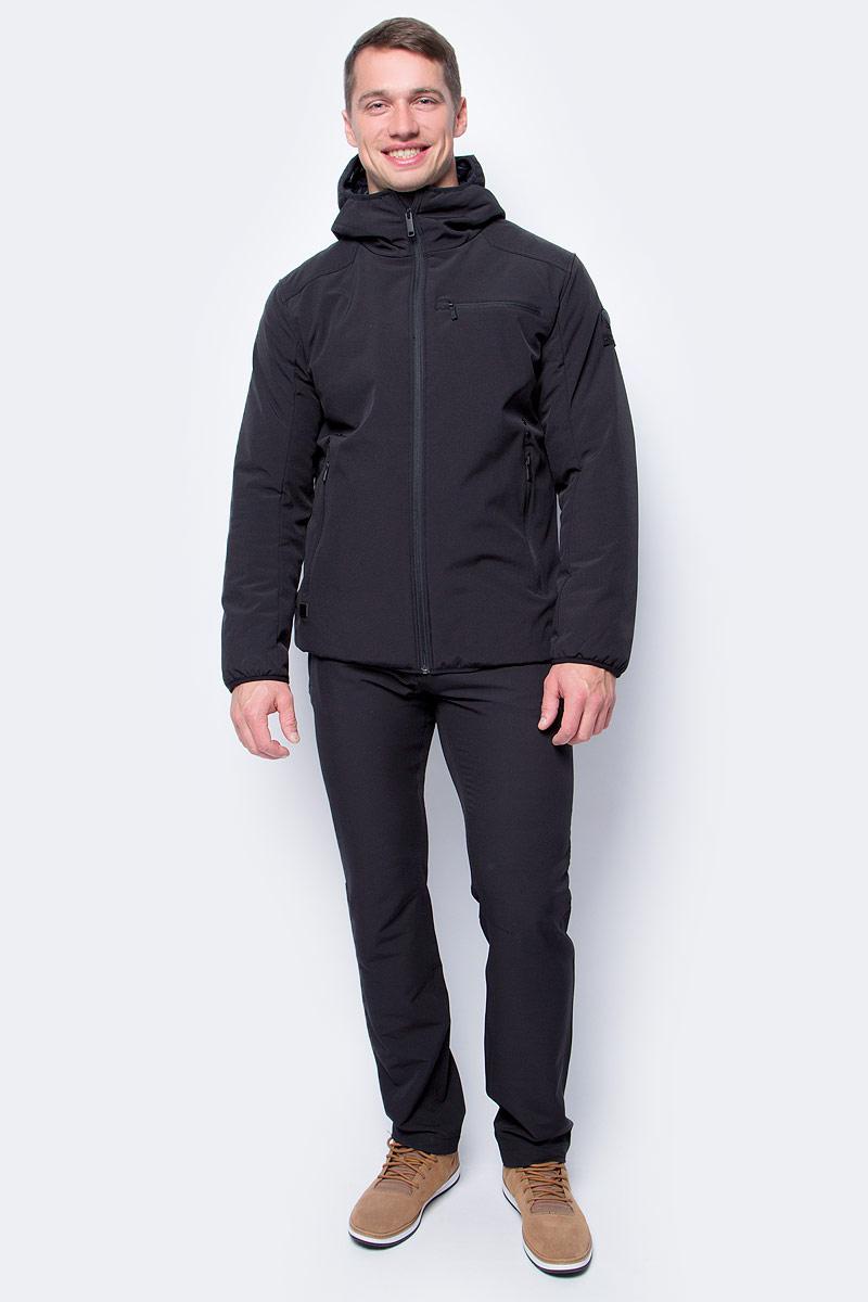 Куртка мужская Luhta, цвет: черный. 838508382LV_990. Размер 52838508382LV_990Мужская куртка Luhta выполнена из высококачественного материала. Модель с капюшоном застегивается на молнию. Спереди расположено множество карманов на молниях.