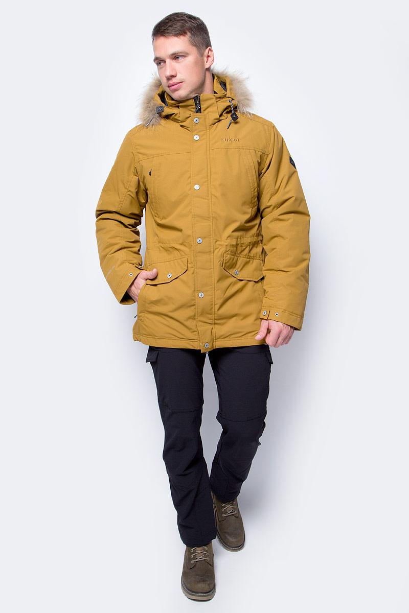 Куртка мужская Rukka, цвет: светло-коричневый. 878364286R8V_130. Размер M (50)878364286R8V_130Мужская куртка Rukka выполнена из высококачественного материала и превосходно подойдет для прохладных дней. Модель с длинными рукавами и воротником-стойкой застегивается на застежку-молнию и имеет ветрозащитный клапан на кнопках. Куртка дополнена капюшоном с сеховой опушкой. Объем талии регулируется при помощи внутреннего шнурка-кулиски. Внешняя сторона дополнена множеством карманов.