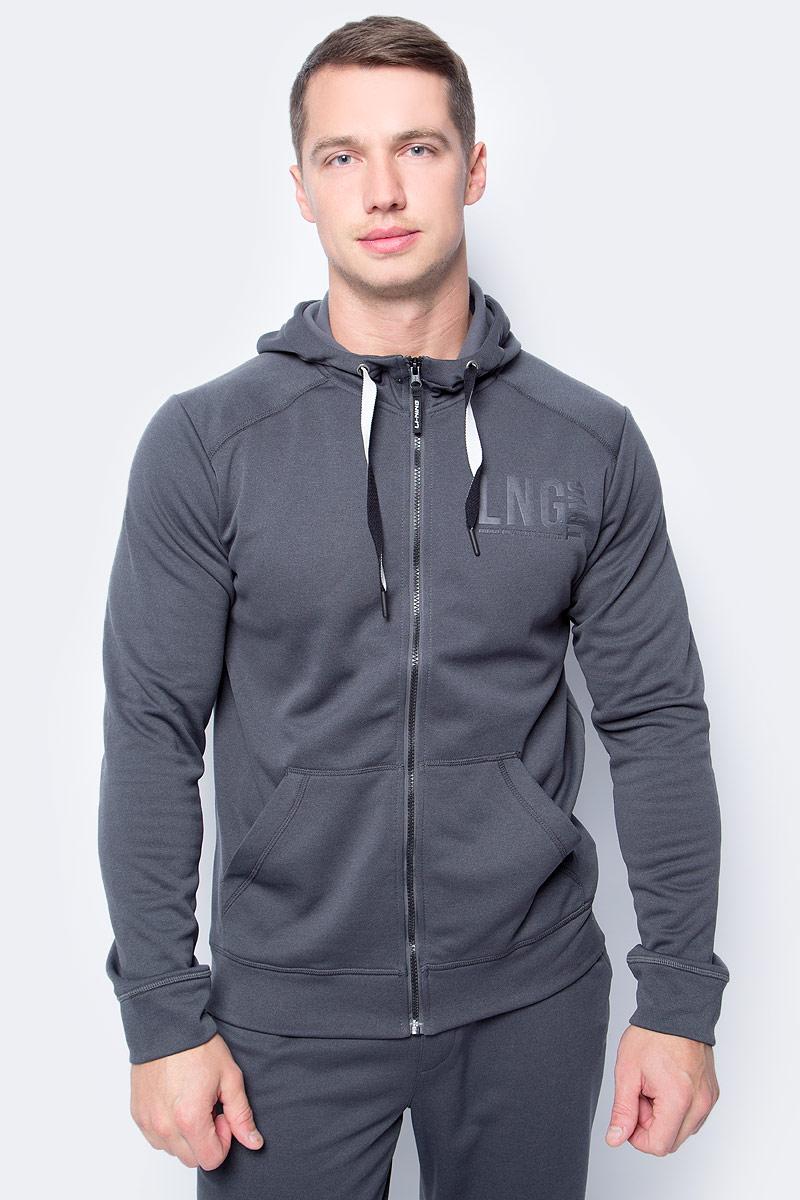 Толстовка мужская Li-Ning, цвет: темно-серый. 883382806AV_899. Размер S (48)