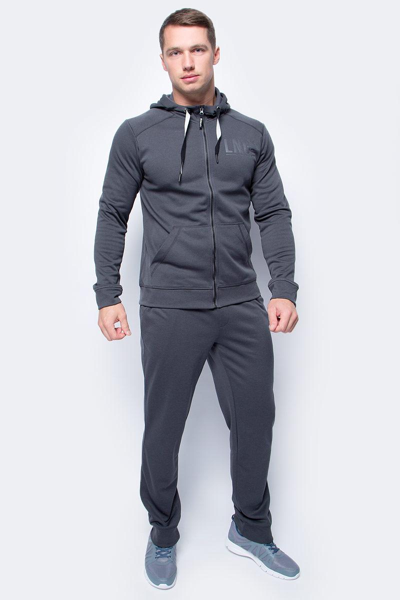 Толстовка мужская Li-Ning, цвет: темно-серый. 883382806AV_899. Размер XS (46)883382806AV_899Мужская толстовка выполнена из 100% полиэстера. Модель с капюшоном застегивается на молнию. Спереди толстовка дополнена двумя карманами.