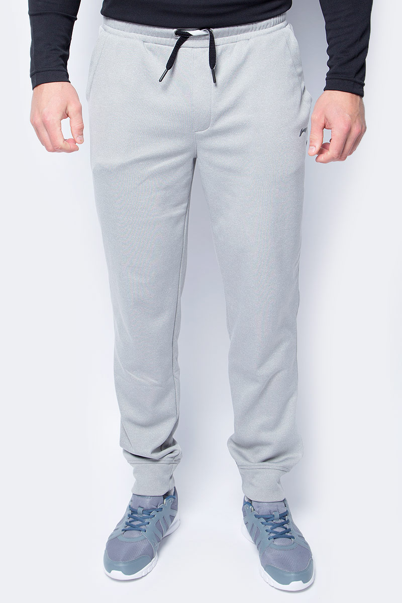 Брюки спортивные мужские Li-Ning, цвет: светло-серый. 883560806AV_820. Размер S (48)