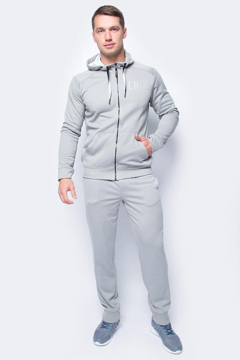 Толстовка мужская Li-Ning, цвет: светло-серый. 883382806AV_820. Размер XS (46)883382806AV_820Мужская толстовка выполнена из 100% полиэстера. Модель с капюшоном застегивается на молнию. Спереди толстовка дополнена двумя карманами.