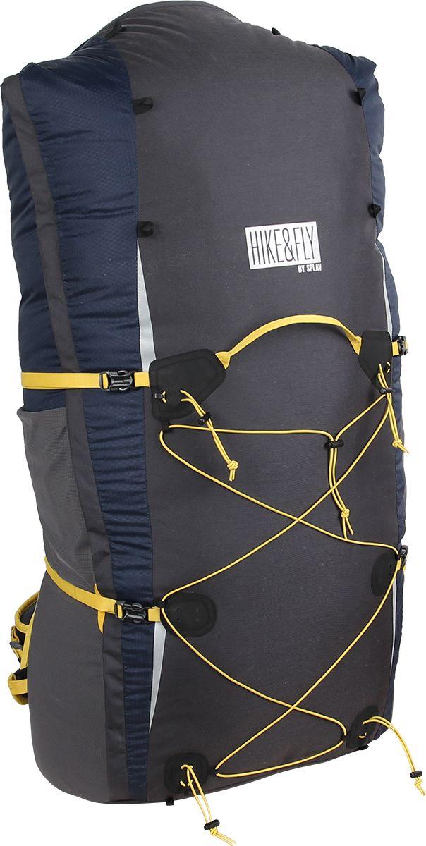 Рюкзак спортивный Сплав Hike & Fly 80, цвет: темно-синий, темно-серый, 80 л5019061Рюкзак спортивный Сплав Hike & Fly 80 сочетает поразительную легкость, прочность, компактность с продуманной системой подвески и грамотной организацией полезного объема. Очень легкий компактный рюкзак идеально подойдет для параглайдинга.Рюкзак изготовлен из легкой, прочной, износостойкой ткани 100% Nylon HONEYCOMB с двухсторонним силиконовым покрытием (3000 мм. вод.ст.), а дно, фасад и часть спинки рюкзака - из особо прочной Cordura 500D.Объема достаточно для размещения обычного крыла в концертине, облегченного кокона, приборов и шлема.Поясной ремень сложной формы выполнен с двумя регулировками угла наклона и плотной посадкой по бедрам. Петли для карабинов на поясе.Лямки (с регулируемой грудной стяжкой) анатомической формы с мягкой вентилируемой подкладкой из сетки Airmesh Coolmax.Г-образная двухзамковая молния с планкой открывает верхний вход и полностью одну боковину рюкзака.Клапан отсутствует, закручивающийся верх, позволяет регулировать высоту рюкзака.Два больших боковых кармана с двумя входами из эластичной сетки фиксируются облегченными стяжками.Система крепления трекинговых палок или ледового инструмента позволяет отцепить их от рюкзака или закрепить их прямо на ходу, не снимая рюкзак.Даже самый изматывающий подъем в гору не может затмить счастье, которое обретаешь в полете. Жаль только, что удобный рюкзак для крыла, шлема подвески и другого необходимого пилотам оборудования найти совсем не просто, а бесформенные парапланерные мешки без лишних регулировок, не способны уменьшить приходящуюся на спину и плечи нагрузку.Мы хотим познакомить вас с новой разработкой специализированного рюкзака, который включает в себя все необходимое для переноски параплана или кайта, являясь вместе с тем полноценным облегченным трекинговым рюкзаком.Крупноячеистая сетка вместе с тонкими профилированными уплотняющими накладками обеспечивает вентиляцию спины.Легкий двойной поясной ремень сложной констру