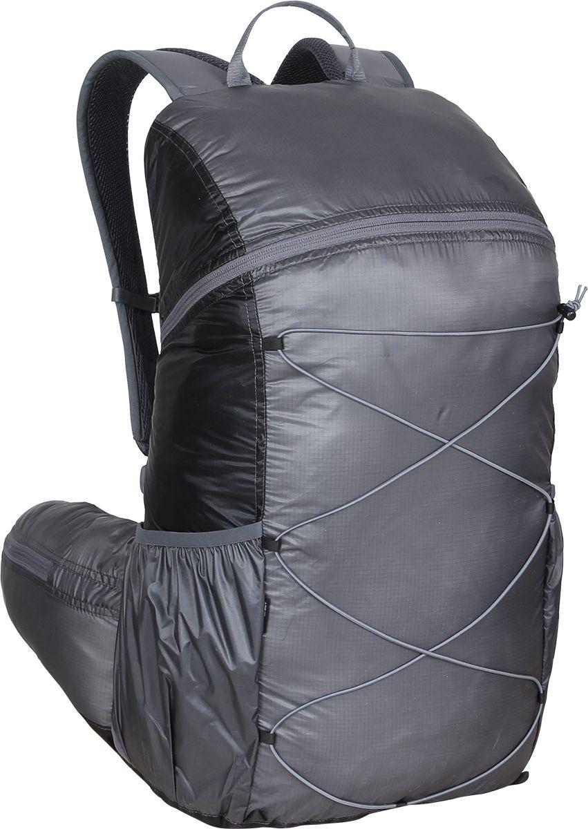 Рюкзак туристический Сплав Easy Pack, цвет: черный, серый, 25 л5019444Сверхлегкий рюкзак на молнии Сплав Easy Pack идеально подходит для туризма и радиальных выходов. Модель может использоваться в качестве повседневного городского рюкзака.Основной объем на двухзамковой молнии.Нижние боковые карманы-упоры с подрезиненным верхом и отверстием для слива воды.Внутренний объемный карман во всю высоту спины с подрезиненным верхом.Вывод под питьевую систему в спинке рюкзака.Лямки анатомической формы с грудной стяжкой. Петли для подвески съемного кармана.Подкладка изготовлена из сетки Airmesh Coolmax на лямках и поясе рюкзака.Анатомический пояс с объемными карманами на молнии.Четыре петли на дне рюкзака для подвески дополнительного снаряжения.Размеры рюкзака в наполненном состоянии (Ш х Т х В): 27 х 23 х 50 см.Объем: 25 л.Вес: 238 г.