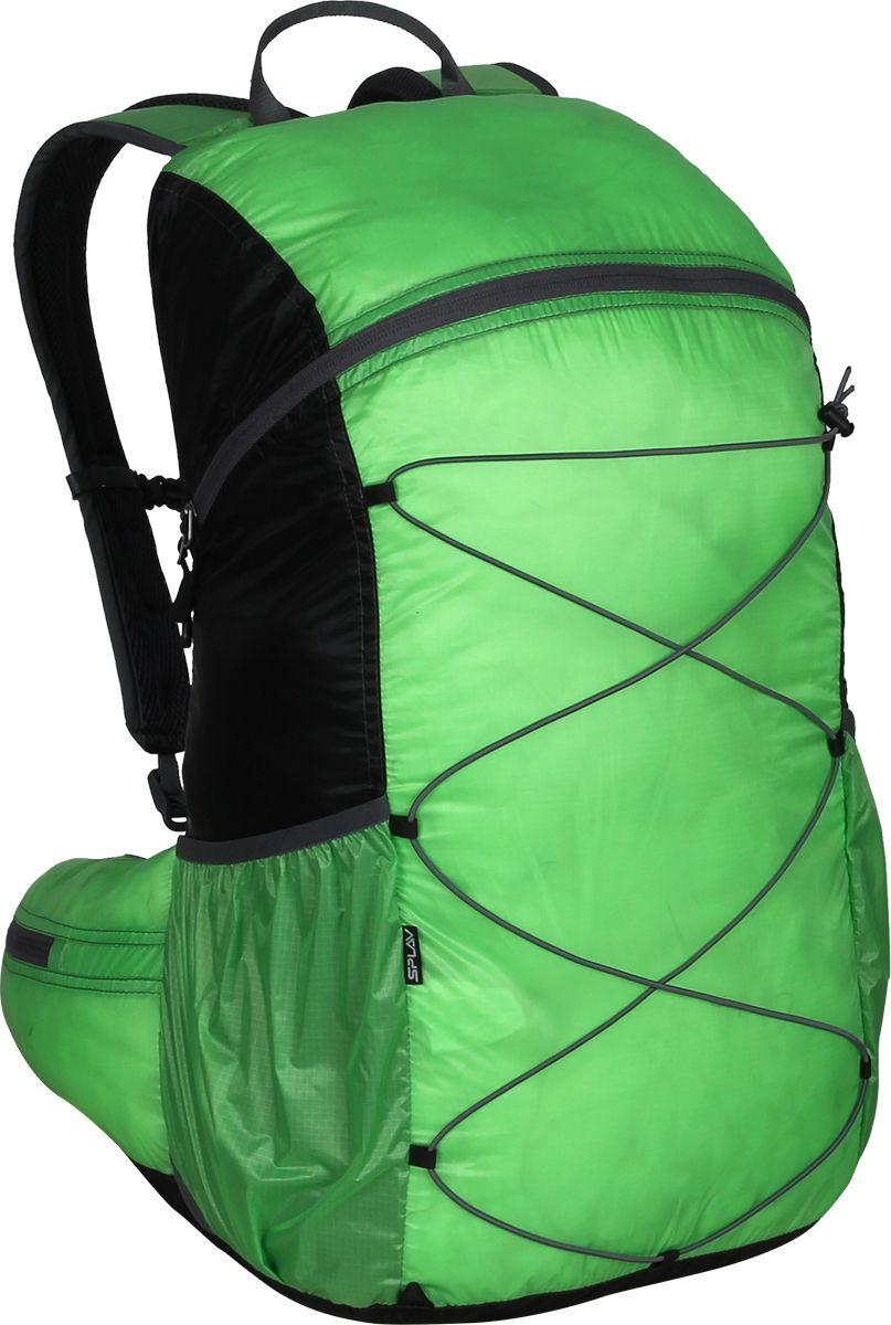 Рюкзак туристический Сплав Easy Pack, цвет: черный, зеленый, 25 л5019445Сверхлегкий рюкзак на молнии Сплав Easy Pack идеально подходит для туризма и радиальных выходов. Модель может использоваться в качестве повседневного городского рюкзака.Основной объем на двухзамковой молнии.Нижние боковые карманы-упоры с подрезиненным верхом и отверстием для слива воды.Внутренний объемный карман во всю высоту спины с подрезиненным верхом.Вывод под питьевую систему в спинке рюкзака.Лямки анатомической формы с грудной стяжкой. Петли для подвески съемного кармана.Подкладка изготовлена из сетки Airmesh Coolmax на лямках и поясе рюкзака.Анатомический пояс с объемными карманами на молнии.Четыре петли на дне рюкзака для подвески дополнительного снаряжения.Размеры рюкзака в наполненном состоянии (Ш х Т х В): 27 х 23 х 50 см.Объем: 25 л.Вес: 238 г.