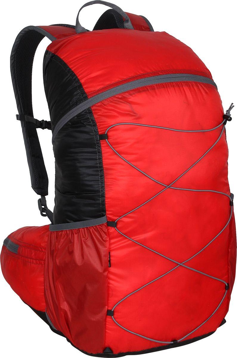 Рюкзак туристический Сплав Easy Pack, цвет: черный, красный, 25 л5019448Сверхлегкий рюкзак на молнии Сплав Easy Pack идеально подходит для туризма и радиальных выходов. Модель может использоваться в качестве повседневного городского рюкзака.Основной объем на двухзамковой молнии.Нижние боковые карманы-упоры с подрезиненным верхом и отверстием для слива воды.Внутренний объемный карман во всю высоту спины с подрезиненным верхом.Вывод под питьевую систему в спинке рюкзака.Лямки анатомической формы с грудной стяжкой. Петли для подвески съемного кармана.Подкладка изготовлена из сетки Airmesh Coolmax на лямках и поясе рюкзака.Анатомический пояс с объемными карманами на молнии.Четыре петли на дне рюкзака для подвески дополнительного снаряжения.Размеры рюкзака в наполненном состоянии (Ш х Т х В): 27 х 23 х 50 см.Объем: 25 л.Вес: 238 г.