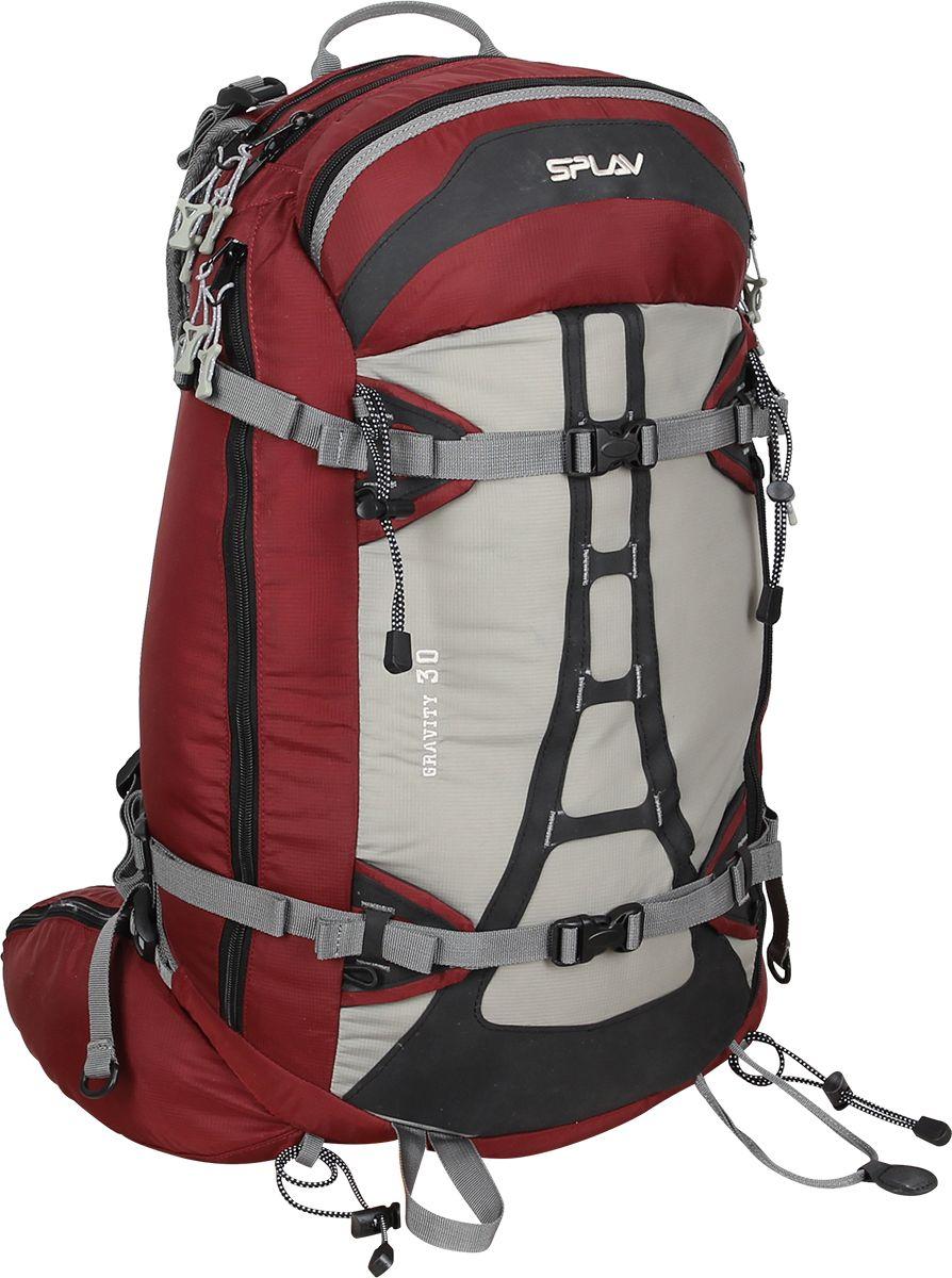Рюкзак туристический женский Сплав  Gravity 30 , цвет: красный, серый, 30 л - Туристические рюкзаки