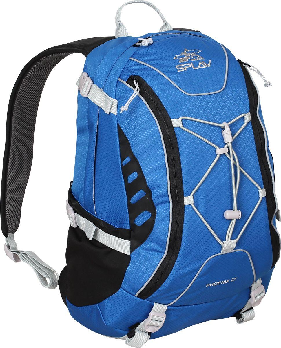 Рюкзак туристический Сплав Phoenix 27, цвет: синий, 25 л5020160Сверхлегкий рюкзак Сплав Phoenix 27 на молнии изготовлен из ткани силиконка. Идеален длясверхлегкого туризма, радиальных выходов, в качестве повседневного городского рюкзака. Ткань- силиконка, очень легкий нейлоновый силиконизированный материал. Функциональныйрюкзак Phoenix 27 выполнен с множеством скрытых карманов.Основное отделение моделизастегивается на застежку-молнию.Мягкие валики с подкладкой из сетки Airmesh на спинкерюкзака.Спинка рюкзака дополнена двумя потайными карманами. Один в верхней части подлямками и один вертикальный внизу.Один карман для мелочей внутри основного объема.Два перекрывающихся фронтальныхкармана на фронтальной части рюкзака с удобными вертикальными молниями, с органайзером идополнительными кармашками.Ячейки на лямках для размещения дополнительных подсумков.Накидка от дождя в карманена дне рюкзака.Съемный, регулируемый поясной ремень из стропы 25 мм.Возможновнешнее крепление скального оборудования.Размеры рюкзака в наполненном состоянии (Ш х Т х В): 27 х 27 х 50 см.Объем: 25 л.Вес: 210 г.