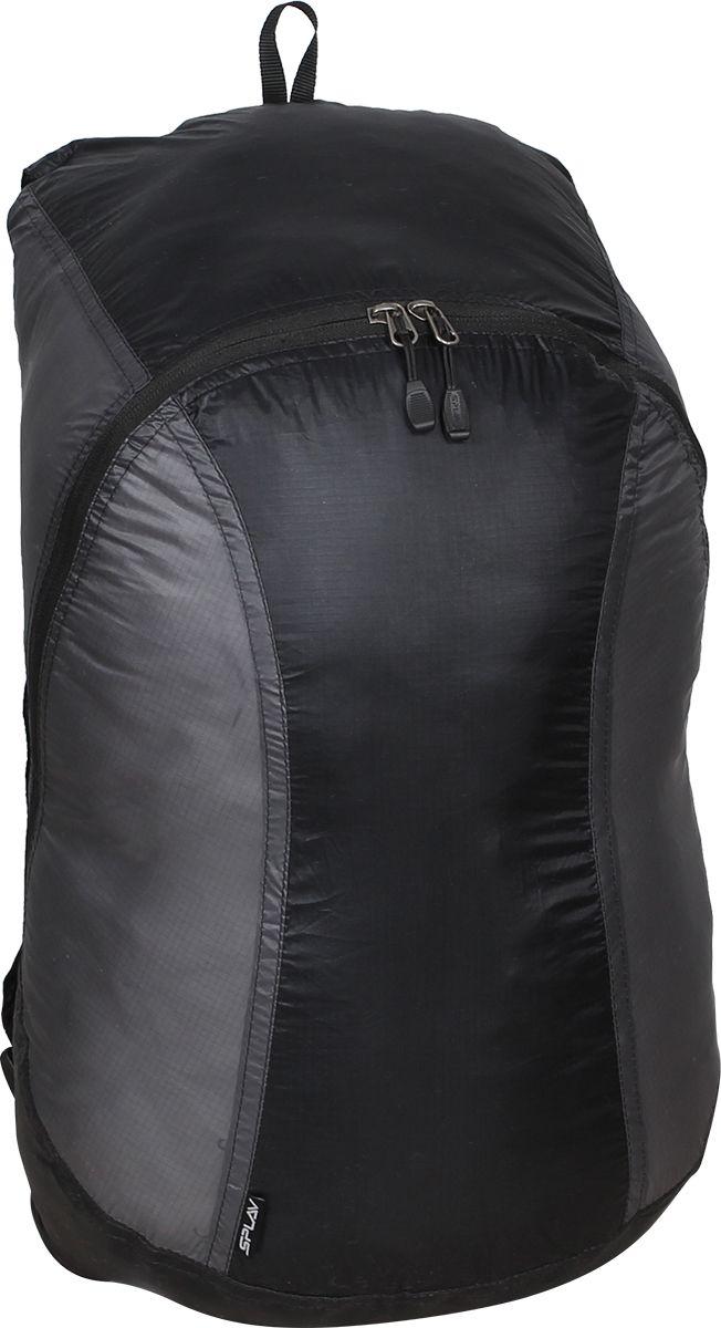 Рюкзак туристический Сплав Pocket Pack, цвет: черный, темно-серый, 18 л5020744Сверхлегкий рюкзак на молнии Сплав Pocket Pack изготовлен из ткани силиконка. Идеален для сверхлегкого туризма, радиальных выходов, в качестве повседневного городского рюкзака.Модель сворачивается во вшитый компактный чехол.Ткань - силиконка, очень легкий нейлоновый силиконизированный материал, прошитый двойными швами.Основное отделение застегивается на двухзамковую молнию, на замках удобные ухватки.Элементы жесткости отсутствуют.Лямки выполнены с легкой регулировкой 10 мм стропой.Небольшая ручка для переноски выполнена из стропы.на верхней части спины с изнанки вшит простой чехол в виде мешка, утягивающегося шнуром на фиксаторе. Имеется петля из тесьмы для пристегивания чехла к снаряжению. Малые габариты позволяют переносить чехол в кармане одежды. Нагруженные участки усилены закрепками-зигзагами.Размеры рюкзака в наполненном состоянии (Ш х Т х В): 28 х 20 х 45 см.Размер рюкзака в свёрнутом виде (Ш х Т х В): 5 х 5 х 10,5 см.Объем: 18 л.Вес: 79 г.