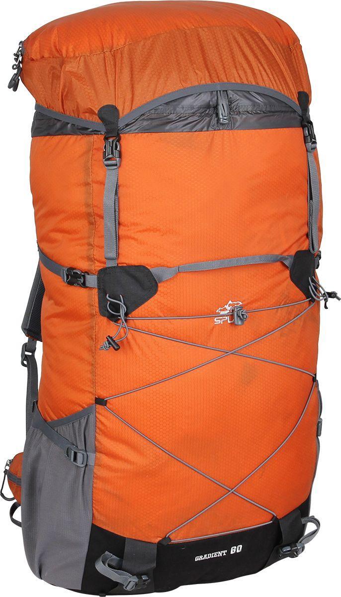 Рюкзак туристический Сплав Gradient 60, цвет: кирпичный, 60 л5035475Сплав Gradient 60 - это среднеобъемный рюкзак для походов в альпийском стиле, треккинга, подходов к скальным маршрутам и прогулок по ледникам. Он сочетает в себе поразительную легкость с продуманной системой подвески и грамотной организацией полезного объема.Сверхлегкий каркас из напряженного стеклопластикового прутка создает необходимую жесткость, а крупноячеистая сетка в сочетании с тонкими профилированными уплотняющими накладками обеспечивает вентиляцию спины.Рюкзак изготовлен из легкой, прочной, износостойкой ткани 100% Nylon HONEYCOMB с двухсторонним силиконовым покрытием (3000 мм. вод.ст.), а дно рюкзака - из особо прочной Cordura® 500D.Поясной ремень и лямки (с регулируемой грудной стяжкой) выполнены в анатомической форме с мягкой вентилируемой подкладкой из сетки Airmesh Coolmax.На поясе рюкзака имеется карман на молнии для мелких вещей, которые должны быть под рукой, и петли для карабинов.На лямках рюкзака также есть петли для дополнительных карманов (в комплект не входят!).Объемный тубус из прочного силиконизированного нейлона фиксируется верхней стяжкой.Съемный клапан с карманом может использоваться в качестве поясной сумки.Два больших боковых кармана из эластичной сетки фиксируются облегченными стяжками.Система крепления трекинговых палок или ледового инструмента позволяет отцепить их от рюкзака или закрепить их прямо на ходу, не снимая рюкзак.Под днищем расположены петли для крепления не поместившегося в основной объем снаряжения.Объем: 60 л.Вес: 860 г.Вес клапана: 76 г.Основное отделение (Ш х В х Т): 38 х 63 х 22 см.Карман клапана (Ш х В х Т): 38 х 8 х 22 см.