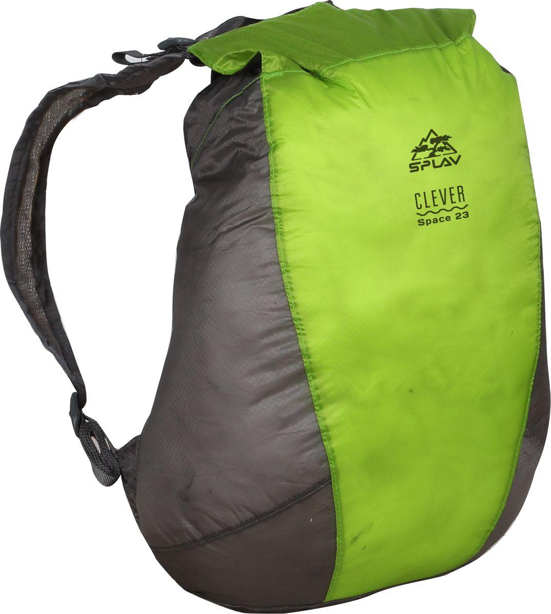 Рюкзак туристический Сплав Clever Space 23, цвет: зеленый, 23 л5047313Рюкзак туристический Сплав Clever Space 23 изготовлен из очень прочной и легкой тканиULTRALIGHT CORDURA NYLON с силиконовой обработкой не пропускает воду, а все швы рюкзака проклеены.При 23 л вместимости, весит рюкзак при этом всего 115 г, и в сложенном виде умещается в небольшой мешочек, который можно пристегнуть к поясу или положить в карман анорака.Сочетание подобных качеств особенно актуально для любителей альпийского стиля восхождений, мультигонок, ориентирования, походов выходного дня и легкоходов.Дышащие лямки с мягкой вентилируемой подкладкой из сетки, плечевые оттяжки, верх закручивается на скрутку и защелкивается фастексом, ультралегкая, прочная, непромокаемая ткань - все, что необходимо и ничего лишнего.Объем: 23 л.Вес:115 г.