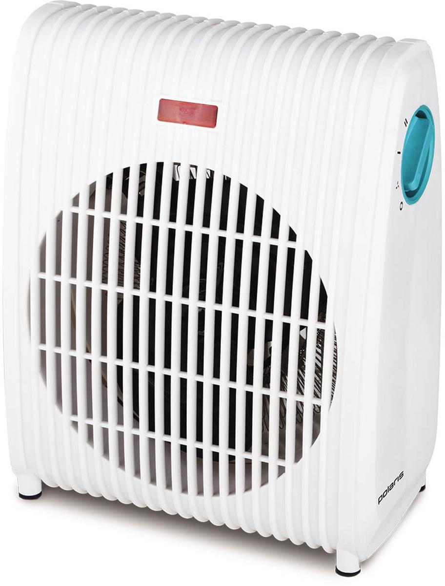 Polaris PFH 2051 тепловентилятор008642Тепловентилятор Polaris PFH 2051 – незаменимая вещь, когда нужно быстро и эпизодически прогревать небольшое помещение. В качестве нагревательного элемента в нем используется спираль из сплава с высоким электрическим сопротивлением. Встроенный вентилятор способствует быстрой циркуляции «заряженного» теплом воздуха по комнате.Характеристики: 2 режима нагрева 1000/2000 ВтФункция «холодный воздух»Защита от перегреваМощность: 2000 Вт