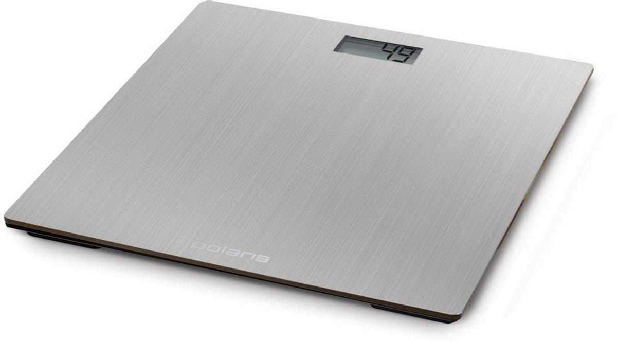 Polaris PWS 1841DM напольные весы5536Стильные электронные весы Polaris PWS 1841DM с высокой точностью измерения станут неизменным спутником для людей, следящих за своим весом. Весы оборудованы жидкокристаллическим дисплеем с крупными цифрами, благодаря чему показания будут легко читаемы. Высокопрочная металлическая платформа гарантирует безопасность во время взвешивания. Прорезиненные ножки обеспечивают весам дополнительную устойчивость, предотвращая их скольжение по полу, что дает возможность получить максимально точный результат. Прибор отключается автоматически, а индикация низкого заряда батареи заблаговременно предупредит вас о необходимости ее замены. Весы имеют привлекательный дизайн, благодаря чему украсят собой любой интерьер.