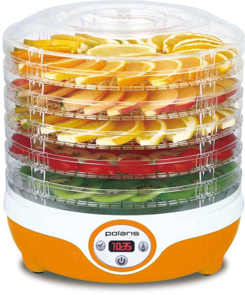 Polaris PFD 0605D, Orange сушилка для овощей и фруктов сушилка для овощей и фруктов polaris pfd 0305