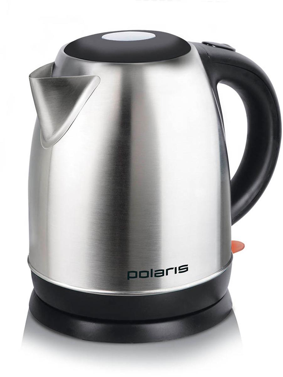 Polaris PWK 1717CA электрический чайник6554Стильный чайник Polaris PWK 1717CA стального цвета и обтекаемой формы, имея мощность 1800 Вт, вскипятит 1,7 литра воды всего за несколько минут! Удобный в использовании чайник имеет отсек для хранения шнура и вращающийся корпус, который поворачивается на 360°, что делает его очень удобной моделью.Но самым главным достоинством этого чайника является фильтр для очистки воды, который очистит жесткую водопроводную воду от вредных элементов.