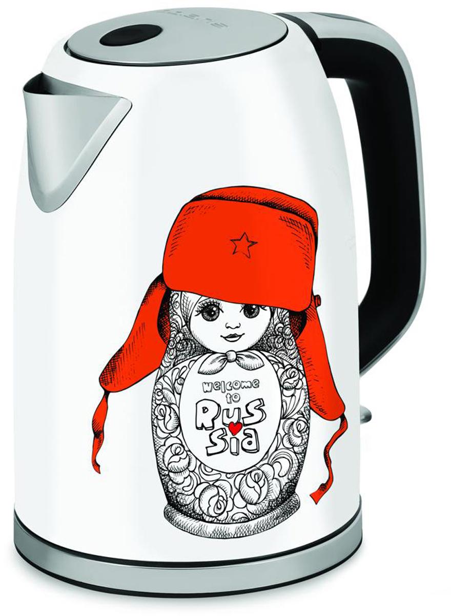 Polaris PWK 1715CA электрический чайник8138Электрический чайник Polaris PWK 1715CA в стильном корпусе из высококачественной нержавеющей стали с дизайнерским рисунком создаст особую атмосферу и подчеркнет индивидуальность вашей кухни.Мощный нагревательный элемент позволяет вскипятить 1,7 литра воды за считанные минуты.Фильтр предотвращает попадание мелких частиц накипи в чашку, благодаря чему вода всегда будет чистой и приятной на вкус.Функция автоматического отключения при закипании или недостаточном количестве воды обеспечивает безопасное использование прибора и экономию электроэнергии.Вращающийся корпус на 360°.