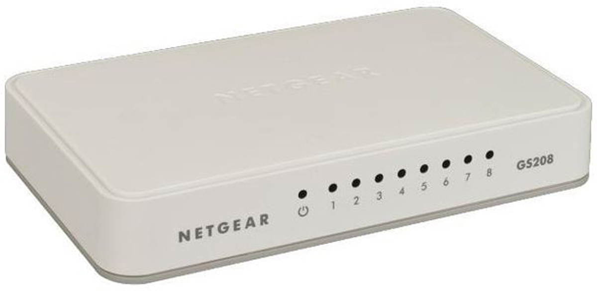 Netgear GS208v2, White коммутатор