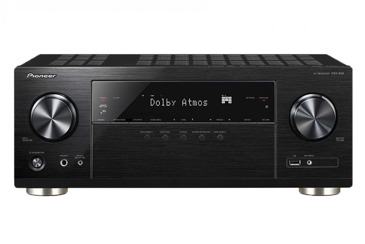 Pioneer VSX-932-B, Black AV ресивер4719047 кн 130Вт, HDMI 4/1, 4K, Dolby Atmos, DTS:X, Bluetooth, Wi-Fi, 32бит ЦАП