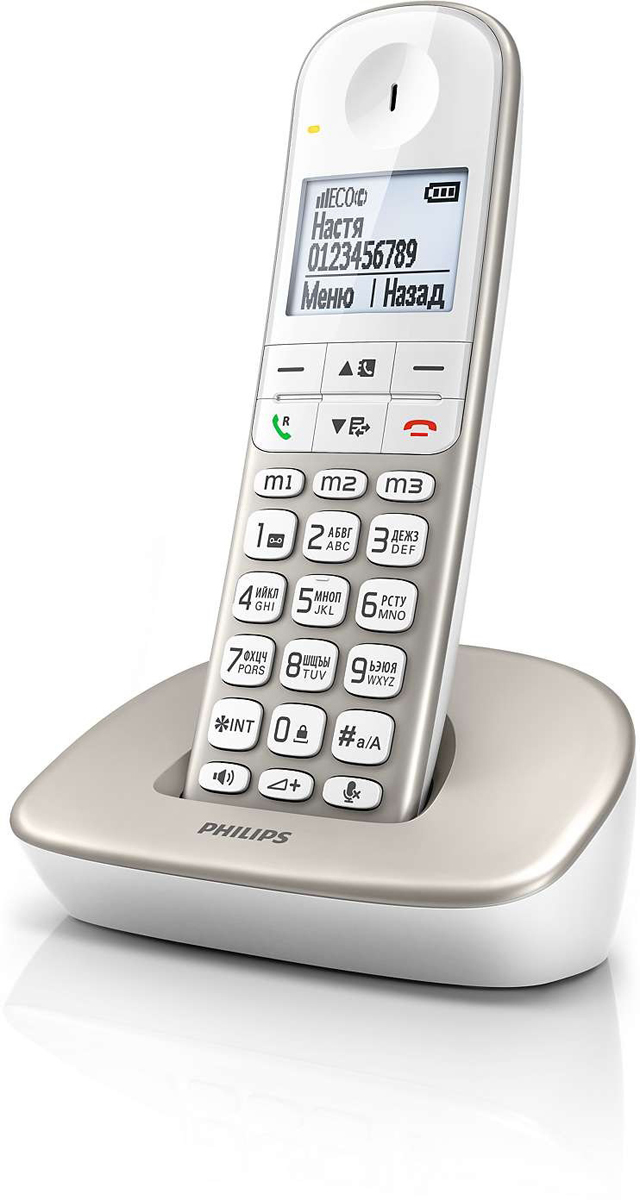 """Philips XL4901S/51 радиотелефон4895185606187Беспроводной радиотелефон. Большая удобная трубка; крупные кнопки и символы; дисплей 1,9"""" с белой подсветкой; определитель номера; громкая связь; подсветка клавиатуры; cветовая индикация вызовов и событий; возможность записи 2-х телефонов для одного контакта; совместим со слуховыми аппаратами; до 16 часов разговора. Цвет серебристый."""