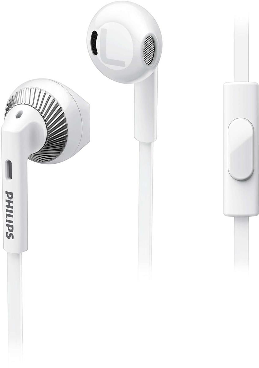 Philips SHE3205, White наушникиSHE3205WT/00Наушники Philips SHE3205 обеспечивают комфортную посадку и оснащены 14,2 мм излучателями и отверстием для низких частот, что гарантирует воспроизведение насыщенных басов и четкого звука. Благодаря встроенному микрофону можно легко переключаться между режимами разговора и прослушивания музыки и всегда оставаться на связи с теми, кто вам дорог.Неодимовые магниты улучшают звучание низких частот. Неодим является наилучшим материалом для создания сильного магнитного поля, что улучшает чувствительность звуковой катушки, усиливает низкие частоты и повышает качество звучания.При создании конструкции учитывалось строение уха, что гарантирует комфортную посадку и плотное прилегание.Мягкая и гибкая деталь соединения разъема и кабеля защищает кабель от повреждения даже в случае сильного сгибания.