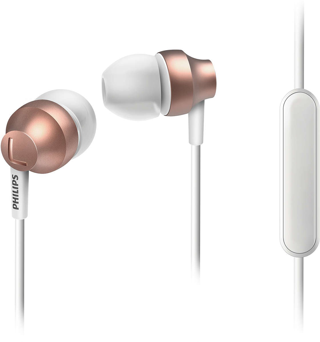Philips SHE3855, Rose Gold наушники проводные наушники marley positive vibration em jh011 cp rose gold