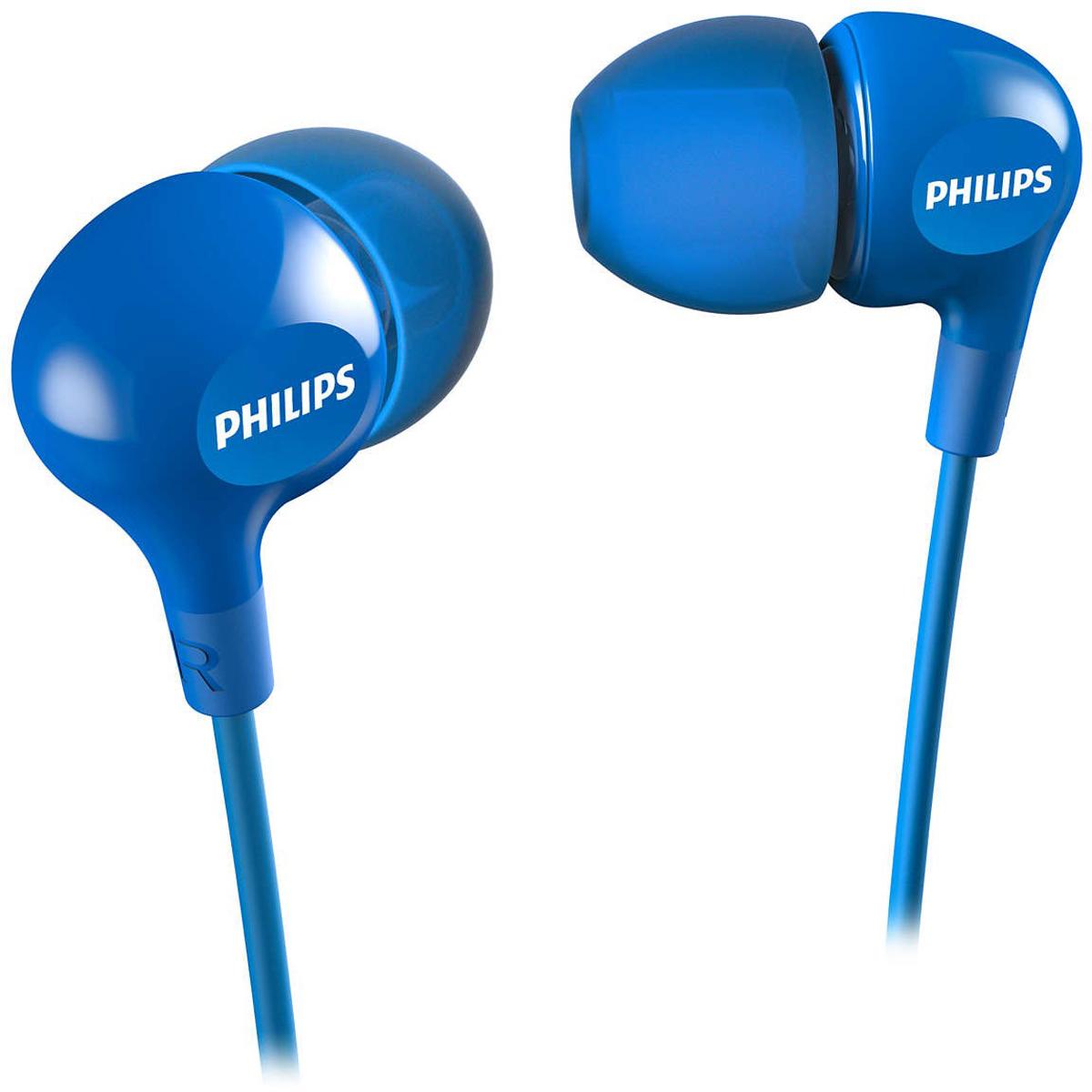 Philips SHE3550, Blue наушникиSHE3550BL/00Компактные наушники-вкладыши Philips SHE3550 с усиленным басом. Эргономичная овальная звуковая трубка обеспечивает максимально комфортную посадку, подстраиваясь под форму уха. В комплект входят насадки 3 размеров, чтобы вы могли выбрать для себя подходящий вариант.Мягкий резиновый сгиб предотвращает повреждение контактов при многократном сгибании кабеля и продлевает срок службы наушников.