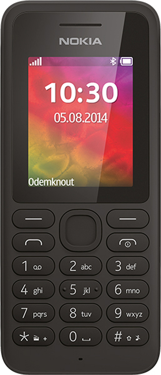 Nokia 130 Dual Sim, GreyA00028617Смотрите видео в любое время. С помощью Nokia 130 вы можете наслаждаться любимыми триллерами, драмами и комедиями до 16 ч без подзарядки. Увлекательно проводите свое свободное время.Не важно, где вы и что делаете: с музыкой жить веселее. Телефон работает в режиме воспроизведения до 46 ч, а карта microSD емкостью до 32 ГБ позволяет хранить тысячи композиций под любое настроение. Поддерживайте нужный ритм на протяжении всего дня.Телефон Nokia 130 с двумя SIM-картами держит заряд до 36 дней в режиме ожидания, а его задняя панель сохраняет цвет даже при истирании. Встроенный фонарик поможет вам найти дорогу в темноте. Приключения ждут вас — просто захватите с собой Nokia 130.Используйте функцию Slam для обмена видео, контактами и другими данными через интерфейс Bluetooth. Быстро и удобно: просто поднесите Nokia 130 к другому устройству Bluetooth. Хотите перемещать данные с помощью карты mircoSD или кабеля USB? Nokia 130 позволяет быстро обмениваться данными.Nokia 130 позволяет контролировать расходы на мобильную связь. Переключайтесь между SIM-картами, чтобы звонить друзьям из своей сети, выбирайте SIM-карту с более выгодным тарифом и ищите другие способы сэкономить на мобильной связи — две SIM-карты открывают перед вами множество возможностей.Телефон сертифицирован EAC и имеет русифицированную клавиатуру, меню и Руководство пользователя.