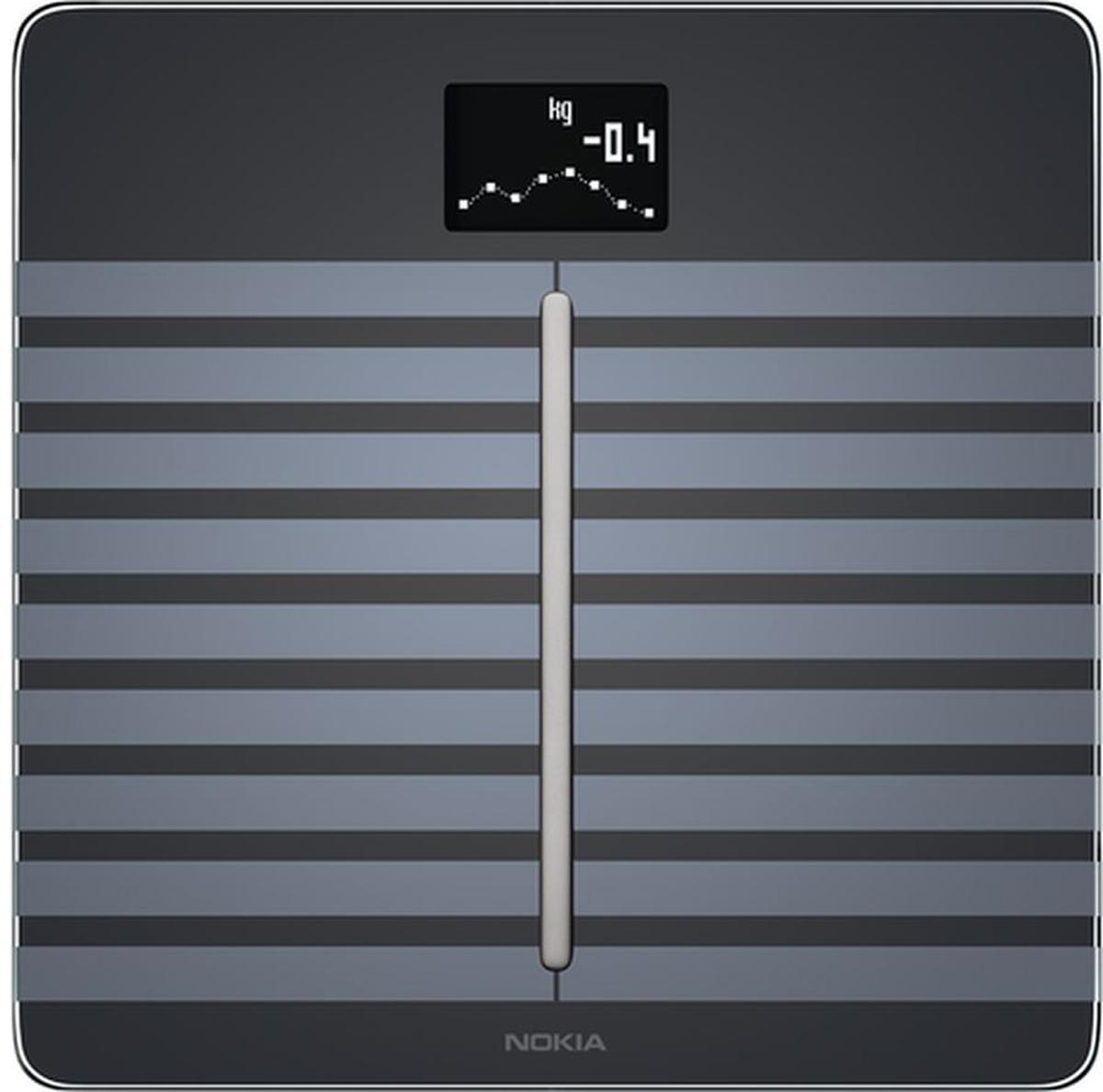 Nokia Body Cardio, Black весы напольные70234103Получите полную картину своего здоровья всего за один шаг: Nokia Body Cardio очень точно измерит массу тела, BMI, состав тела (жир, мышечная масса, вода и костная масса) и частоту сердечных сокращений.Body Cardio измеряет скорость пульсовой волны, признанную медицинским сообществом как лучший автономный показатель общего сердечно-сосудистого здоровья. Получите показания на экране весов и найдите подробную оценку в приложении Health Mate, а также советы по ее улучшению. Независимо от вашей физподготовки, вы сможете четко видеть, как небольшие изменения в образе жизни могут оказать влияние на улучшение здоровья ваших артерий.Люди, установившие цель в приложении, теряют в два раза больше веса. Вы устанавливаете цель, а Health Mate поможет вам ее достичь. Каждое взвешивание отображается в приложении Health Mate автоматически, через Wi-Fi или Bluetooth.