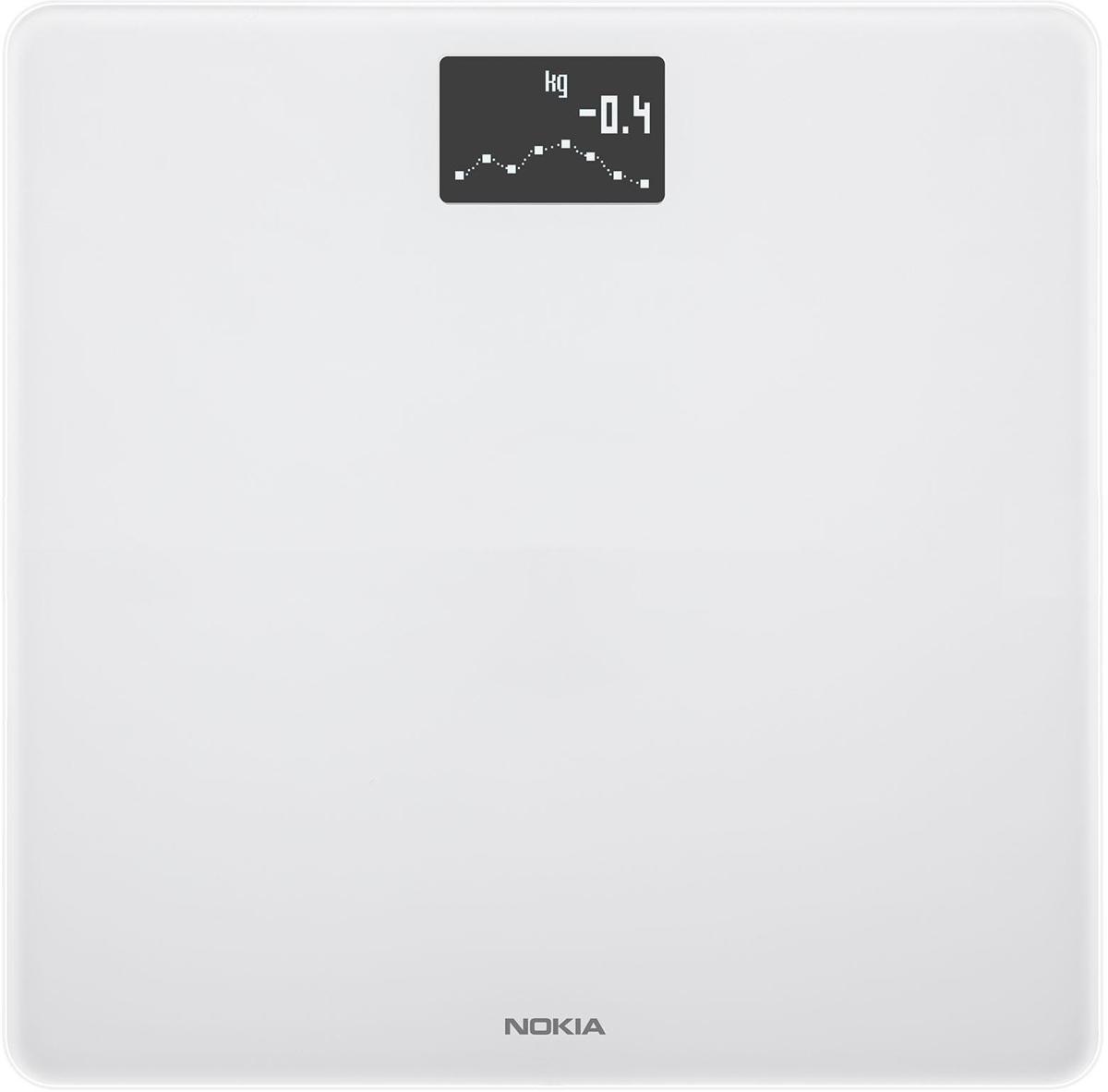 Nokia Body, White весы напольные70252503Беспроводные весы Nokia Body - идеальный помощник для похудения. С помощью таких инструментов, как трендовые индикаторы и отслеживание питания, вы сможете ставить цели и добиваться их.Отслеживайте рост вашего ребенка. Следить за весом вашего ребенка просто - встаньте на весы, удерживая его на рукахКаждое взвешивание отображается в приложении Health Mate автоматически через Wi-Fi или Bluetooth. С вашей историей, доступной 24/7, вы можете видеть какие методики работают, продолжать движение в позитивном направлении и сосредоточиться на ваших целях.Отслеживание веса и ИМТУстановка целей, управление ежедневным бюджетом калорий с интегрированным отслеживанием питанияЛучшая в своем классе точностьДля всей семьи - распознает и отслеживает до 8 пользователей, включая детейАвтоматическая синхронизация с вашим смартфоном через Wi-Fi или Bluetooth